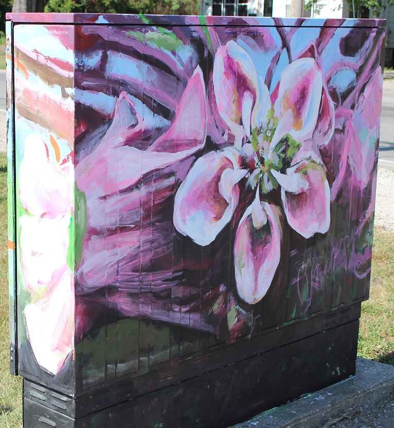 Bell Box Mural - Milkweed and Monarch