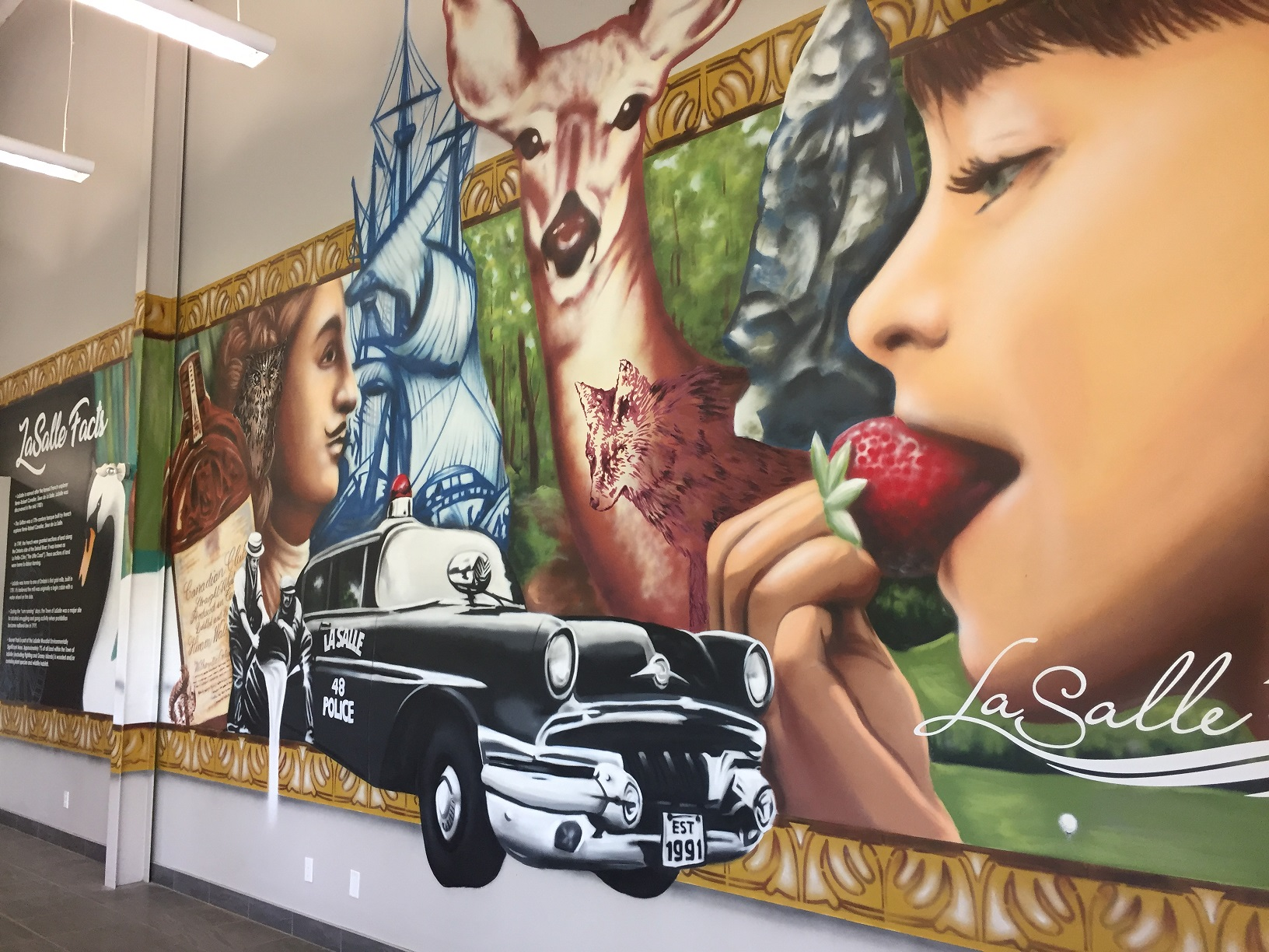 Riverdance Mural: LaSalle, Then til Now