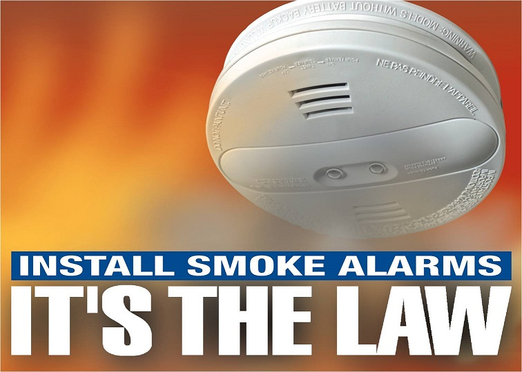 Install smoke alarms, It's the Law picture