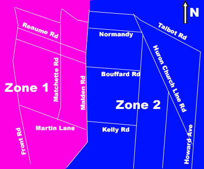 Map of Recycle Zones