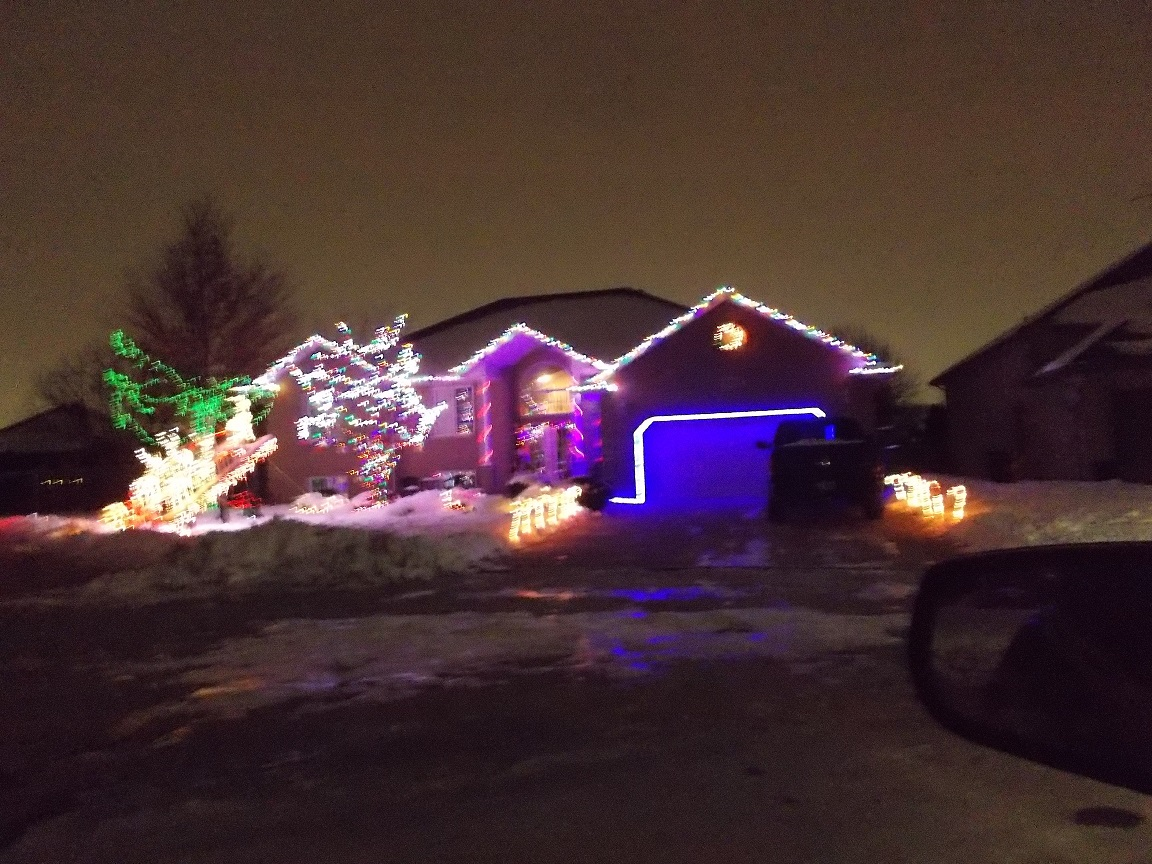 second place winner, 1410 Monk Ave lit up with Christmas lights
