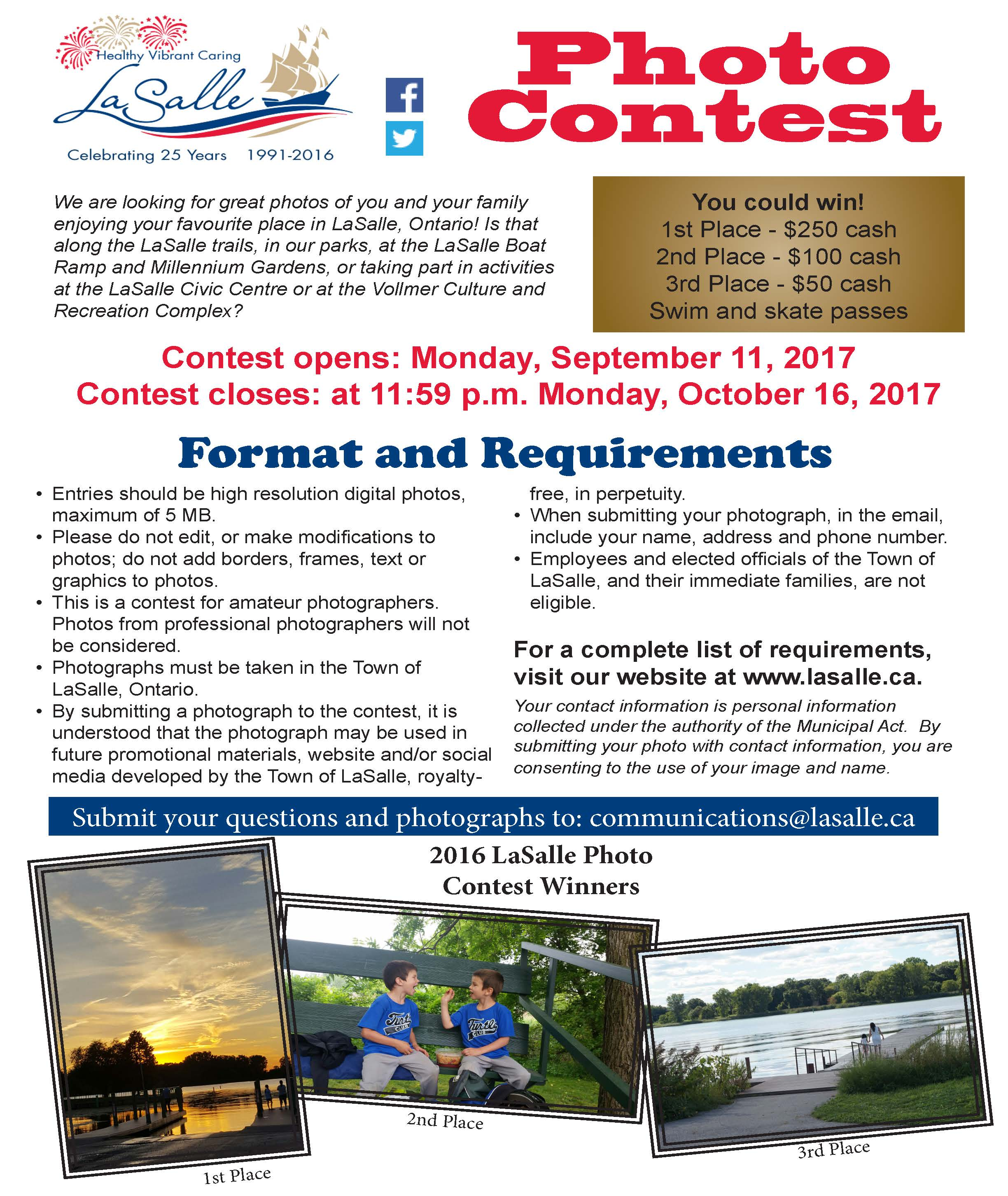 2017 Photo Contest Flyer