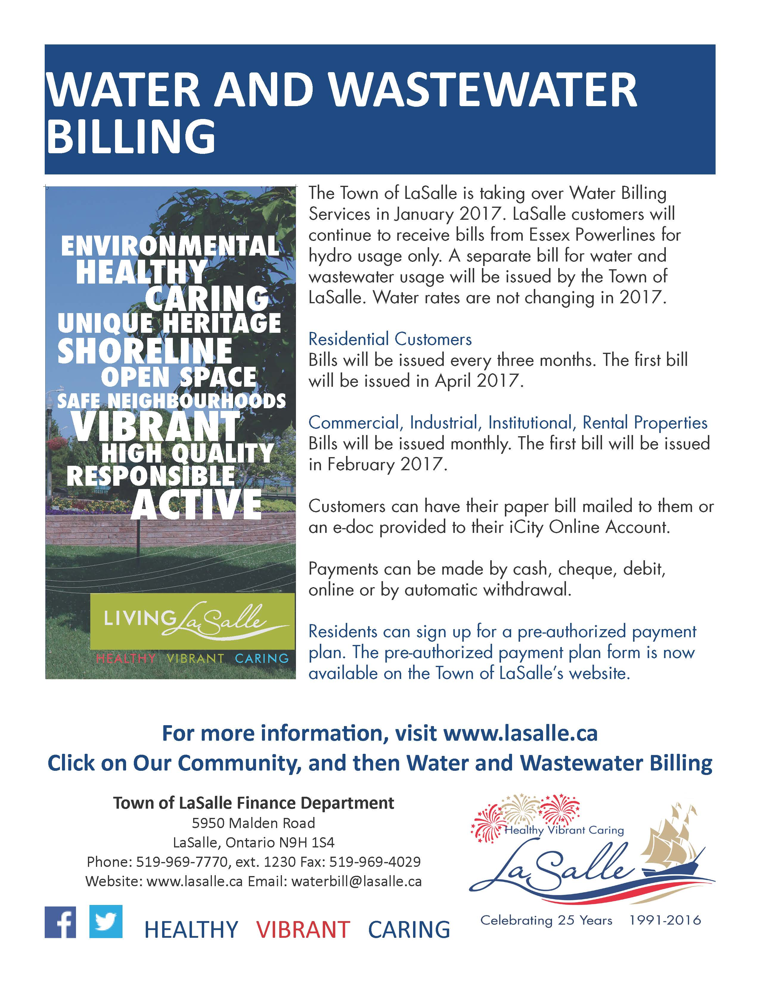 Water and Wastewater Billing Flyer