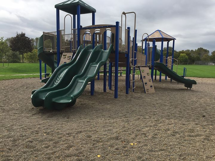 Playground equipment at a park