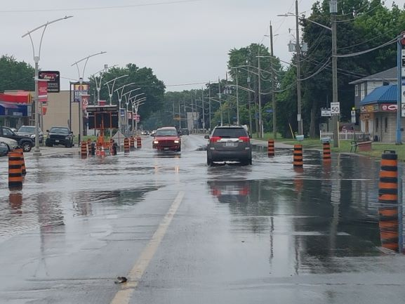 Flooding on Front Road, LaSalle