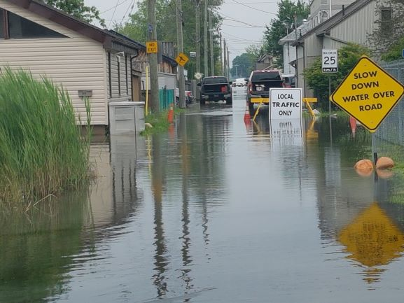 Flooded property in LaSalle