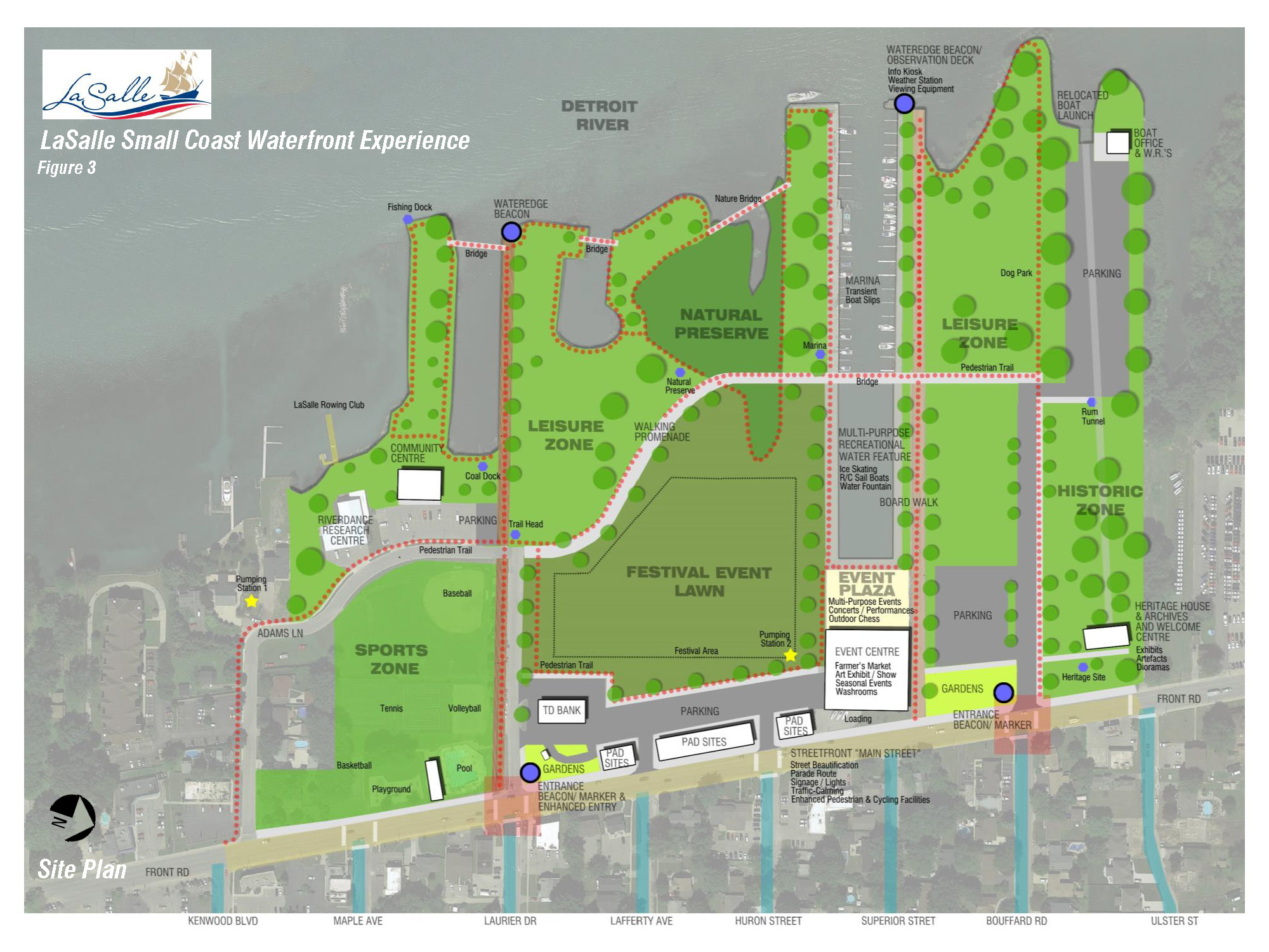 LaSalle Small Coast Waterfront Experience Site Plan